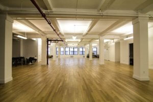 Open layout flatiron office space example