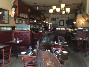 French restaurant interior
