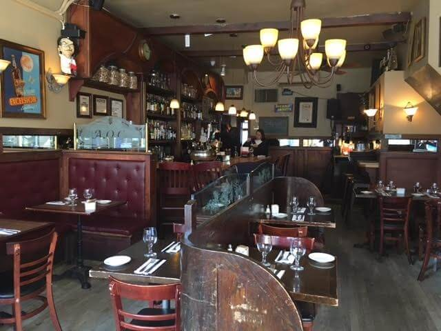French restaurant interior redwood property group