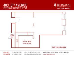 483 10th Avenue, Suite 205 Office Space